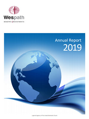 Wespath's 2019 Annual Report cover image