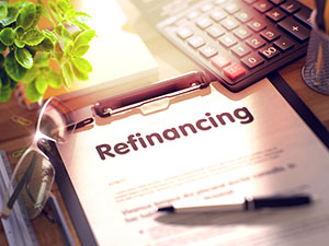 photo of refinancing papers
