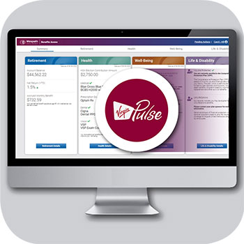 photo of Virgin Pulse logo on the Benefits Access App