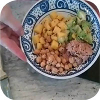 photo of a Poke bowl