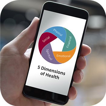 photo of dimensions of health logo on a cell phone