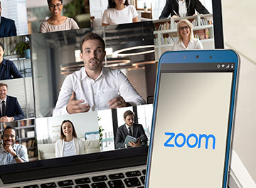 photo of Zoom app and people