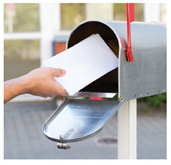 photo of a mailbox